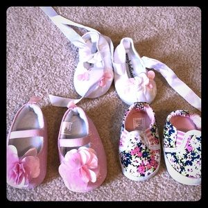 Other - 3 pairs of newborn shoes. Never worn